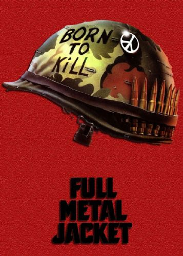 1980's Movie - FULL METAL JACKET - RED canvas print - self adhesive poster - photo print